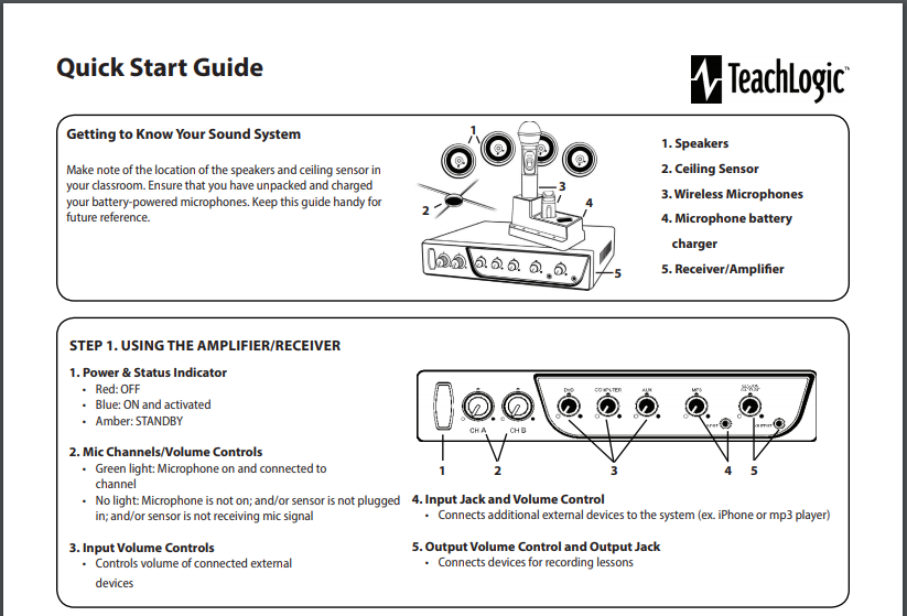 classroom audio quick start guide