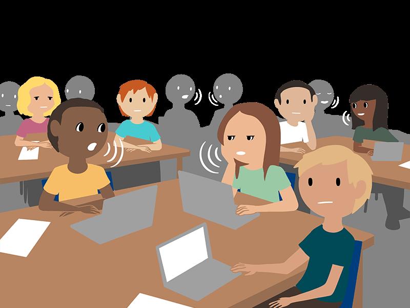 students noisy classroom